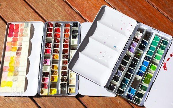 Empty Watercolour Pans