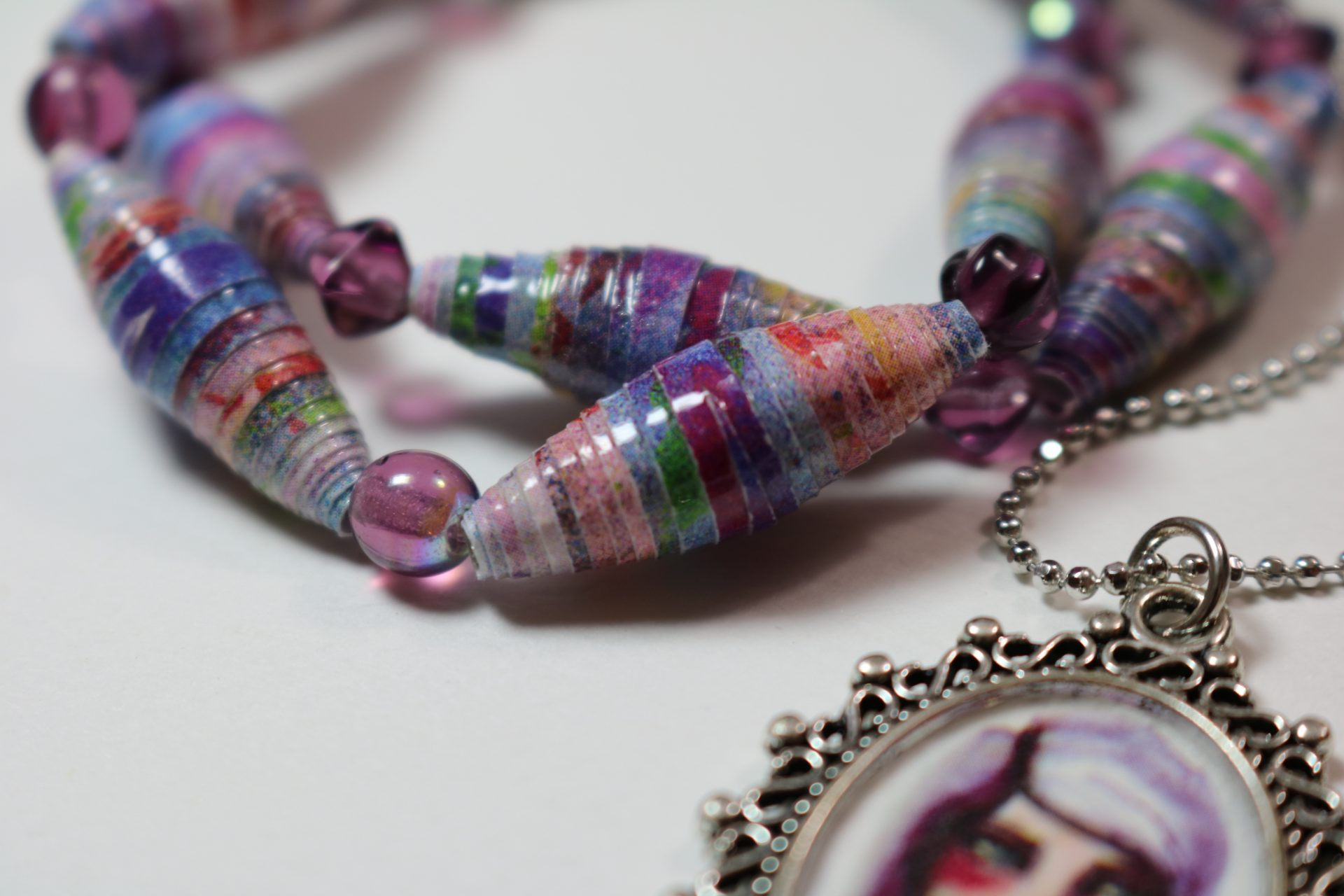 Wear Your Art!  Colorful Paper Beads